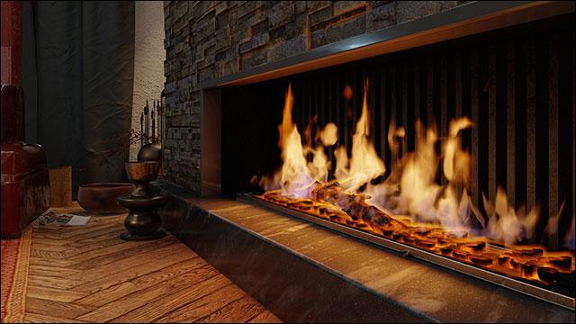 متریال جدید آتش در lumion11